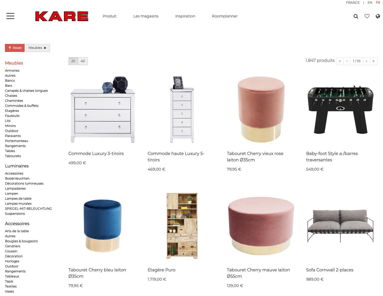 KARE-B2C Produkte