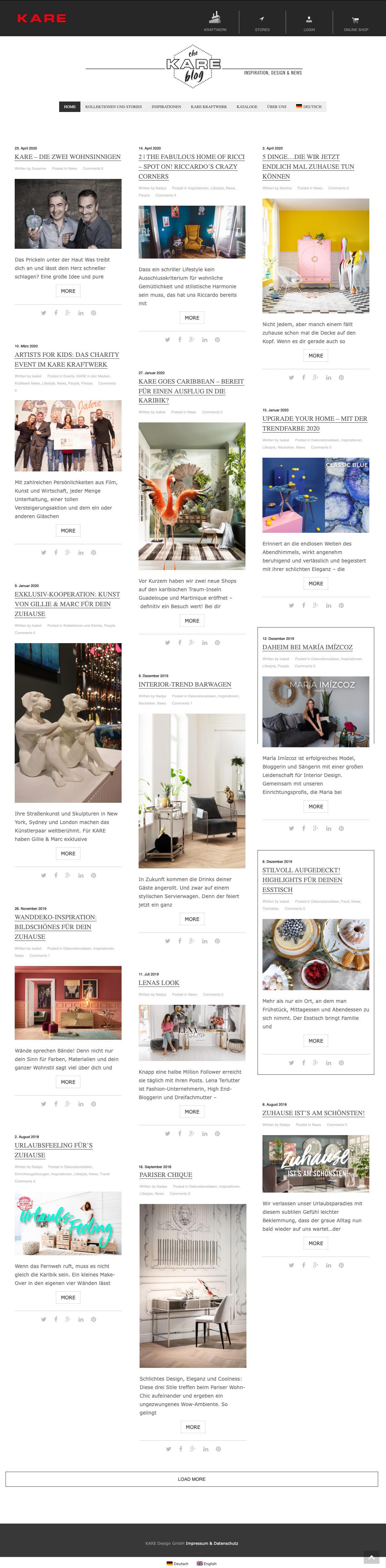 Webseite KARE-Blog
